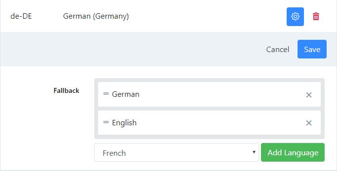 Fallback languages